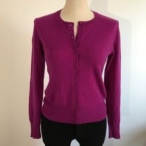 Lord & Taylor Cashmere Sweater Cardigan Button Up